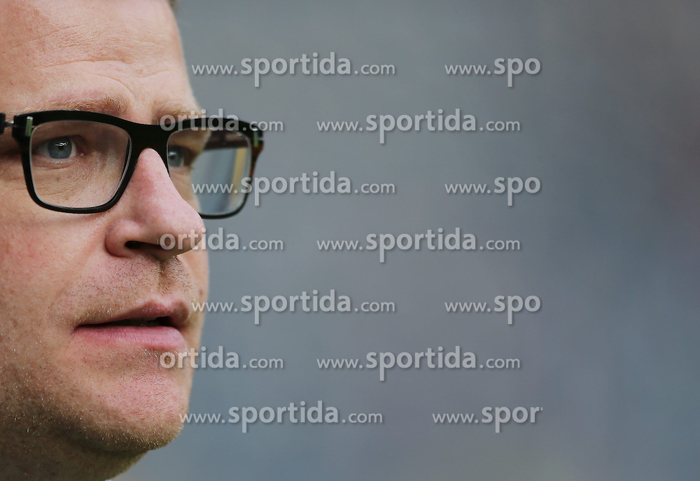 17.04.2015, Commerzbank Arena, Frankfurt, GER, 1. FBL, Eintracht Frankfurt vs Borussia Moenchengladbach, 29. Runde, im Bild vl. Manager Max Eberl (Borussia Moenchengladbach) // during the German Bundesliga 29th round match between Eintracht Frankfurt vs Borussia Moenchengladbach at the Commerzbank Arena in Frankfurt, Germany on 2015/04/17. EXPA Pictures &copy; 2015, PhotoCredit: EXPA/ Eibner-Pressefoto/ Voelker<br /> <br /> *****ATTENTION - OUT of GER*****