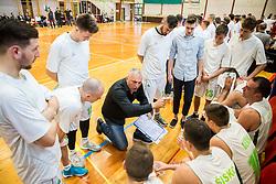 Sasa Doncic, coach of Ilirija during basketball match between KD Ilirija and KK Mesarija Prunk Sezana in Last Round of 2. SKL  2016/17, on April 15, 2017 in GIB center, Ljubljana, Slovenia. Photo by Vid Ponikvar / Sportida