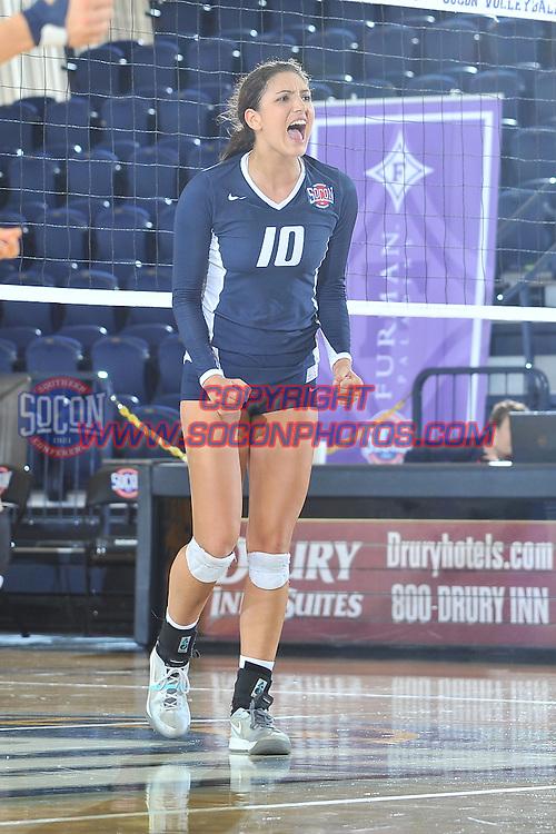 24 November 2014: The Southern Conference hosted their 2014 volleyball championship, Monday at UNCG in Greensboro, North Carolina.  Samford 3, Furman 1. Credit: Todd Drexler/SoConPhotos.com