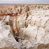 040313       Brian Leddy<br /> The painted desert stretches beyond the horizon at Coalmine Canyon.