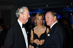 Left to right, the DUKE OF MARLBOROUGH, the COUNTESS OF DERBY and ANDREW PARKER BOWLES at the Cartier Racing Awards held at the Four Seasons Hotel, Hamilton Place, London W1 on 16th November 2005.<br /><br />NON EXCLUSIVE - WORLD RIGHTS