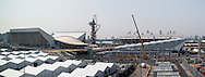 A panoramic view of Olympic Park in London, England on May 24, 2012.  At the time of our visit, this is the closest you could get to where the 2012 Olympic Games will be held.