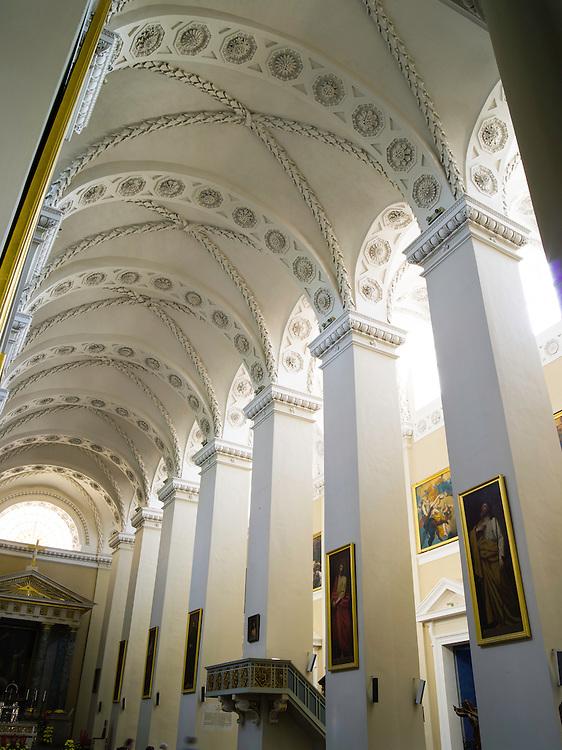 Interior view of the Vilnius Cathedral/Katedra, Vilnius, Lithuania