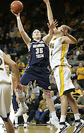 28 NOVEMBER 2007: Georgia Tech forward Brigitte Ardossi (35) puts up a shot over Iowa center Megan Skouby (44) in the second half of Georgia Tech's 76-57 win over Iowa in the Big Ten/ACC Challenge at Carver-Hawkeye Arena in Iowa City, Iowa on November 28, 2007.