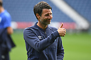A thumbs up from Huddersfield Town manager Danny Cowley during the EFL Sky Bet Championship match between West Bromwich Albion and Huddersfield Town at The Hawthorns, West Bromwich, England on 22 September 2019.