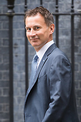 Downing Street, London, September 9th 2016.  Health Secretary Jeremy Hunt arrives at Downing street for the weekly cabinet meeting following the Parliamentary summer recess.