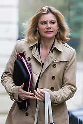 Downing Street, London, March 14th 2017. Education Secretary Justine Greening arrives at Downing Street, London, for the weekly meeting of the UK cabinet, following yesterday's vote in Parliament to allow Prime Minister Theresa May to go ahead with triggering Article 50 beginning the Brexit process of withdrawing from the European Union.