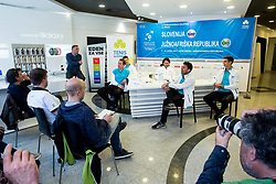 Press conference of Slovenian National Men Tennis Team before Davis Cup against South Africa Republic, on March 30, 2017 in Ljubljana, Slovenia. Photo by Vid Ponikvar / Sportida