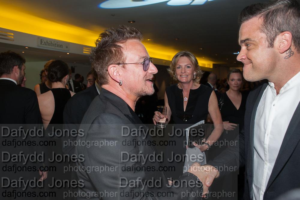 BONO; ROBBIE WILLIAMS, 2012 GQ Men of the Year Awards,  Royal Opera House. Covent Garden, London.  3 September 2012