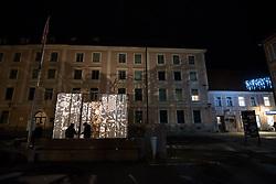 Lumina installation on Slomskov trg during the prizig praznicnih luck - The switch on the festive lights, on November 29, 2019 in Maribor, Slovenia. Photo by Milos Vujinovic / Sportida