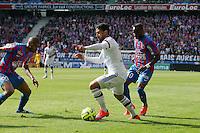 Nabil FEKIR / Jordan ADEOTTI - 09.05.2015 -  Caen / Lyon  - 36eme journee de Ligue 1<br />Photo : Vincent Michel / Icon Sport