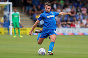 AFC Wimbledon midfielder Anthony Hartigan (8) about to pass the ball during the EFL Sky Bet League 1 match between AFC Wimbledon and Wycombe Wanderers at the Cherry Red Records Stadium, Kingston, England on 31 August 2019.