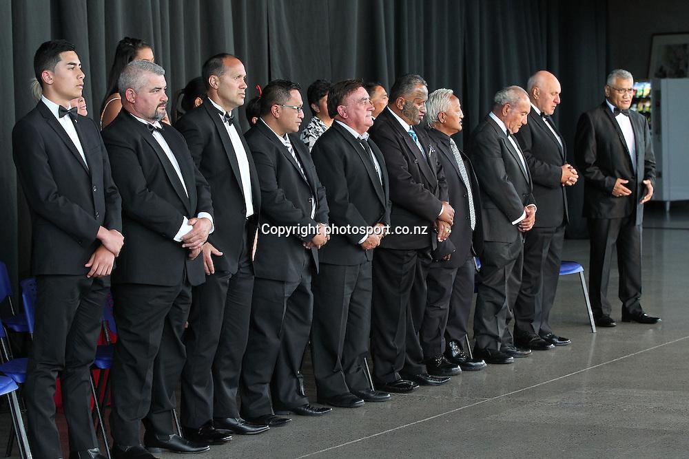 301113 The powhiri at the 2013 Trillian Trust Maori Sports Awards at Vodafone Events Centre, Manukau. Photo: Fiona Goodall/photosport.co.nz