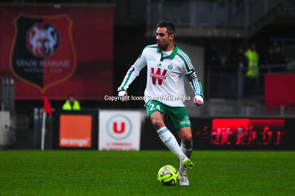 Loic Perrin  - 18.01.2015 - Rennes / Saint Etienne - 21eme journee de Ligue 1 - <br /> Photo : Philippe Le Brech / Icon Sport