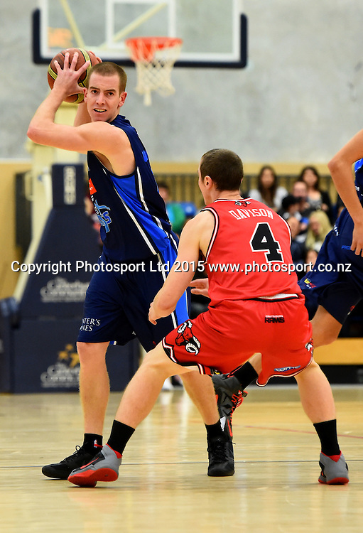 Nelson player Alistair Granger during their NBL Basketball game between the Nelson Giants v Canterbury Rams. Saxton Stadium, Nelson, New Zealand. Friday 24 April 2015. Copyright Photo: Chris Symes / www.photosport.co.nz