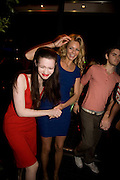 TALLULAH RILEY AND TAMZIN EGERTON, Beyond the Rave, Celebration of Hammer Film's  first horror movie broadcasr on MYSpace. Shoreditch House. London. 16 April 2008.  *** Local Caption *** -DO NOT ARCHIVE-© Copyright Photograph by Dafydd Jones. 248 Clapham Rd. London SW9 0PZ. Tel 0207 820 0771. www.dafjones.com.