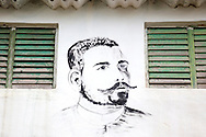 Revolutionary portrait of Maceo in Tacajo, Holguin, Cuba.