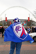 A Chesterfield fan before the Johnstone's Paint Trophy Final match at Wembley Stadium, London<br /> Picture by David Horn/Focus Images Ltd +44 7545 970036<br /> 30/03/2014