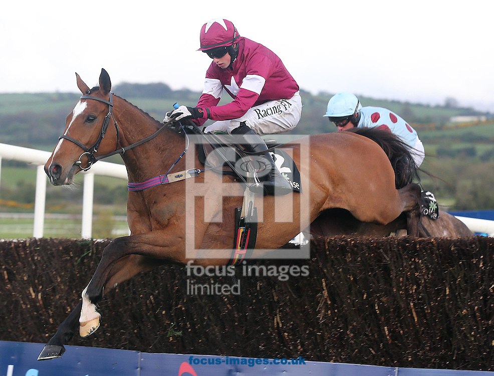 Bryan Cooper on Don Poli during Day One of the Punchestown Festival at Punchestown Racecourse<br /> Picture by Focus Images/Focus Images Ltd 07814 482222<br /> 28/04/2015