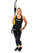 Fitness trainer and TRX instructor Shana Verstegen is pictured in a studio portrait in Madison, Wis., on July. 21, 2019. (Photo by Jeff Miller, www.jeffmillerphotography.com)