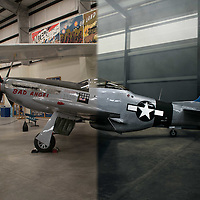 My all time favourite fighter plane the P-51 Mustang! This beauty is an American long-range, single-seat fighter and fighter-bomber used during World War II. My favourite aircraft of all time! The North American P-51 Mustang is widely considered to be the best American fighter of World War II. However, if it were not for the British Royal Air Force the Mustang would never have been built. In January 1940, the British approached several American aircraft companies with their requirements for a new fighter and required that a prototype be ready within 120 days. North American Aviation responded with the Mustang. The early versions of the aircraft proved to be underpowered at high altitudes but when it was redesigned to use the excellent Rolls-Royce Merlin engine the Mustang soon proved to be a superb fighter at all altitudes. The P-51D features a cut down rear fuselage and a bubble canopy to improve rearward visibility and six .50 caliber machine guns in the wings in place of the four guns in most earlier versions. The Mustang remained in military service in the United States Air Force until 1957 and the last combat Mustang was retired by the Dominican Air Force in 1984. Mustangs remain popular in civilian hands with nearly 100 flying in private hands and fetching prices of over two million US dollars.<br />