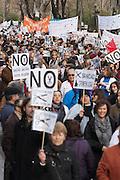 Demonstration against public health care privatization