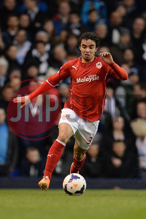 Cardiff's Fabio runs with the ball - Photo mandatory by-line: Mitchell Gunn/JMP - Tel: Mobile: 07966 386802 02/03/2014 - SPORT - FOOTBALL - White Hart Lane - London - Tottenham Hotspur v Cardiff City - Premier League