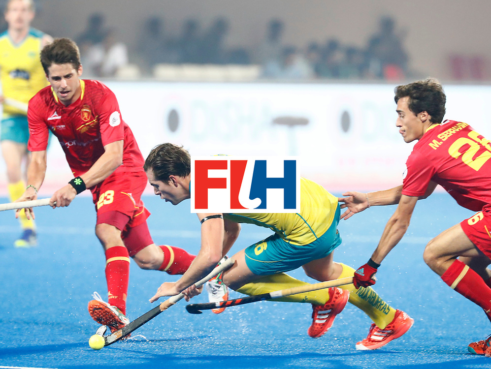Odisha Men's Hockey World League Final Bhubaneswar 2017<br /> Match id:15<br /> Spain v Australia<br /> Foto: Dylan Wotherspoon (Aus) <br /> COPYRIGHT WORLDSPORTPICS KOEN SUYK