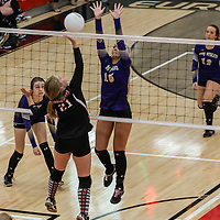 10-10-17 Berryville Sr High Volleyball vs Eureka Springs