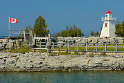 lighthouse on Georgian Bay at South Baymouth on Manitoulin Island (Lake Huron)<br /> South Baymouth on Manitoulin Island<br /> Ontario<br /> Canada