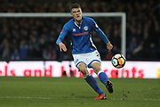 Ryan Delaney during the The FA Cup match between Rochdale and Tottenham Hotspur at Spotland, Rochdale, England on 18 February 2018. Picture by Daniel Youngs.