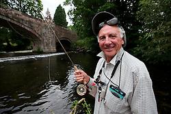UK ENGLAND ENGLAND SHROPSHIRE LLANYBLODWEL 1JUL15 - Angler Robert Park practices fly fishing in the river Tanat in Llanyblodwel, part of the river Severn catchment area.<br /> <br /> jre/Photo by Jiri Rezac / WWF UK<br /> <br /> © Jiri Rezac 2015
