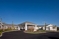 Exterior image of the senior living center the Villa of Suffield Meadows by Jeffrey Sauers of Commercial Photographics.
