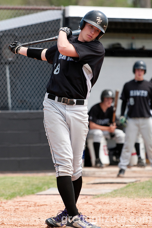 Horizon Christian's Willie Brucker takes a practice swing before stepping into the batters box against Vale during the 3A Oregon State Baseball Championships semifinals game on May 31, 2011 at Cammann Field, Vale, OR.