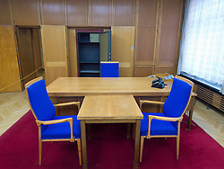 Office of Erich Mielke former Minister of State Security at the former STASI or state secret police headquarters now museum in Berlin Germany