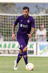 Federico Ceccheniri of ACF Fiorentina during the Pre-season Friendly match between Heracles Almelo and Fiorentina at Sportpark Wiesel  on August 01, 2018 in Wenum-Wiesel , The Netherlands