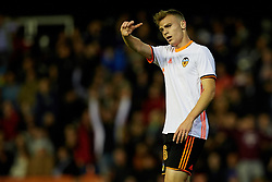 April 6, 2017 - Valencia, Valencia, Spain - Latorre of Valencia CF reacts during the La Liga match between Valencia CF and Real Club Celta de Vigo at Mestalla Stadium on April 6, 2017 in Valencia, Spain. (Credit Image: © David Aliaga/NurPhoto via ZUMA Press)