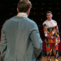 The Rehearsal by Jean Anouilh;<br /> Directed by Jeremy Sams;<br /> Edward Bennett as Hero;<br /> Joseph Arkley as Villebosse;<br /> Minerva Theatre, Chichester;<br /> 13 May 2015