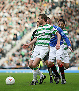 Celtic's Andreas Hinkel during the League Cup final between Rangers and Celtic at Hampden Park -<br /> David Young Universal News And Sport
