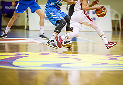 Players in action during basketball match between National teams of Latvia and Slovenia in the Group Phase C of FIBA U18 European Championship 2019, on July 28, 2019 in  Portraria Hall, Volos, Greece. Photo by Vid Ponikvar / Sportida