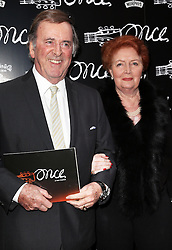 Sir Terry and Lady Helen Wogan  arriving for the opening night of the West End production of the Broadway hit musical Once in London ,Tuesday, 9th April 9th 2013 Photo by: Stephen Lock / i-Images