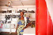 Salamatu Abdalay, 32, sells plastic bags in the shop she started thanks to support from CAMFED in Tamale, Northern Region, Ghana on Thursday November 3, 2011.
