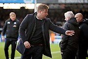 Oxford United's manager Karl Robinson ordering his troops   during the EFL Sky Bet League 1 match between Peterborough United and Oxford United at London Road, Peterborough, England on 8 December 2018.