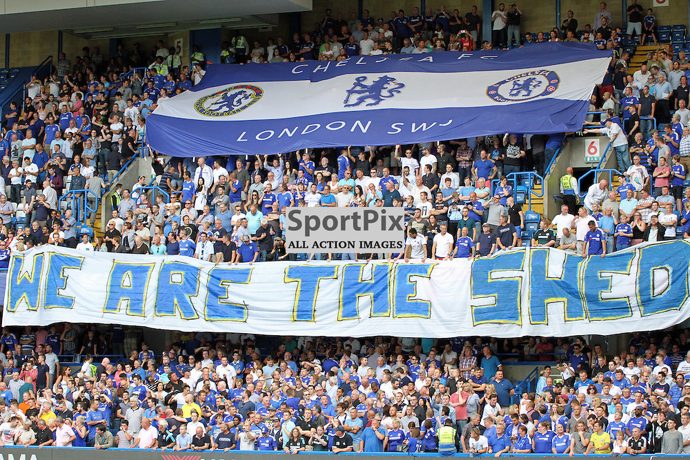 Chelsea's Shed End show support During Chelsea vs Swansea on the 8th August 2015.
