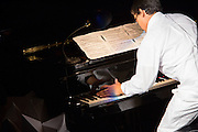 Jazz pianist and composer D. D. Jackson. Jackson is a very muscular pianist.