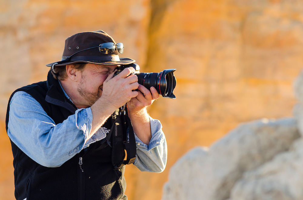 Photographer Ralph Lee Hopkins at Ghost Ranch.