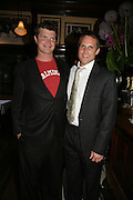 Jack Kidd and Jamie Morrison, PJ's Annual Polo Party . Annual Pre-Polo party that celebrates the start of the 2007 Polo season.  PJ's Bar & Grill, 52 Fulham Road, London, SW3. 14 May 2007. <br />