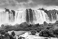 A view of Floriano Falls from the Santa Maria viewing platform at the Iguazu Falls on the Brazilian Side