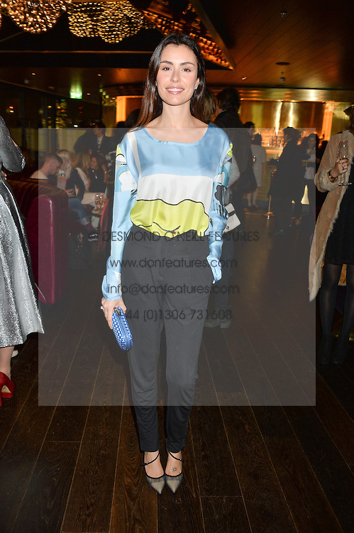 LISE GRENDENE at the Launch Of Osman Yousefzada's 'The Collective' 4th edition with special guest collaborator Poppy Delevingne held in the Rumpus Room at The Mondrian Hotel, 19 Upper Ground, London SE1 on 24th November 2014, sponsored by Storm models and Beluga vodka.