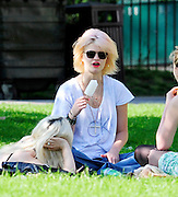 19.APRIL.2011. LONDON<br /> <br /> PIXIE GELGOF SPORTING A NEW HAIR STYLE ENJOYS THE SUNSHINE RELAXING ON PRIMROSE HILL WITH FRIENDS EATING AN ICE LOLLY.<br /> <br /> BYLINE: EDBIMAGEARCHIVE.COM<br /> <br /> *THIS IMAGE IS STRICTLY FOR UK NEWSPAPERS AND MAGAZINES ONLY*<br /> *FOR WORLD WIDE SALES AND WEB USE PLEASE CONTACT EDBIMAGEARCHIVE - 0208 954 5968*